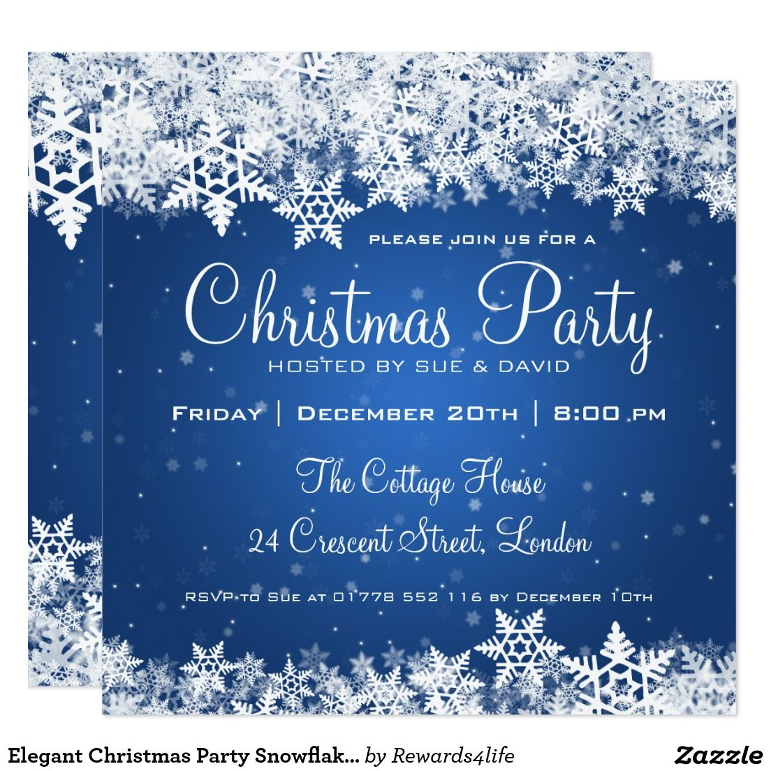 Create Your Own Invitation Zazzle Com Elegant Christmas Party