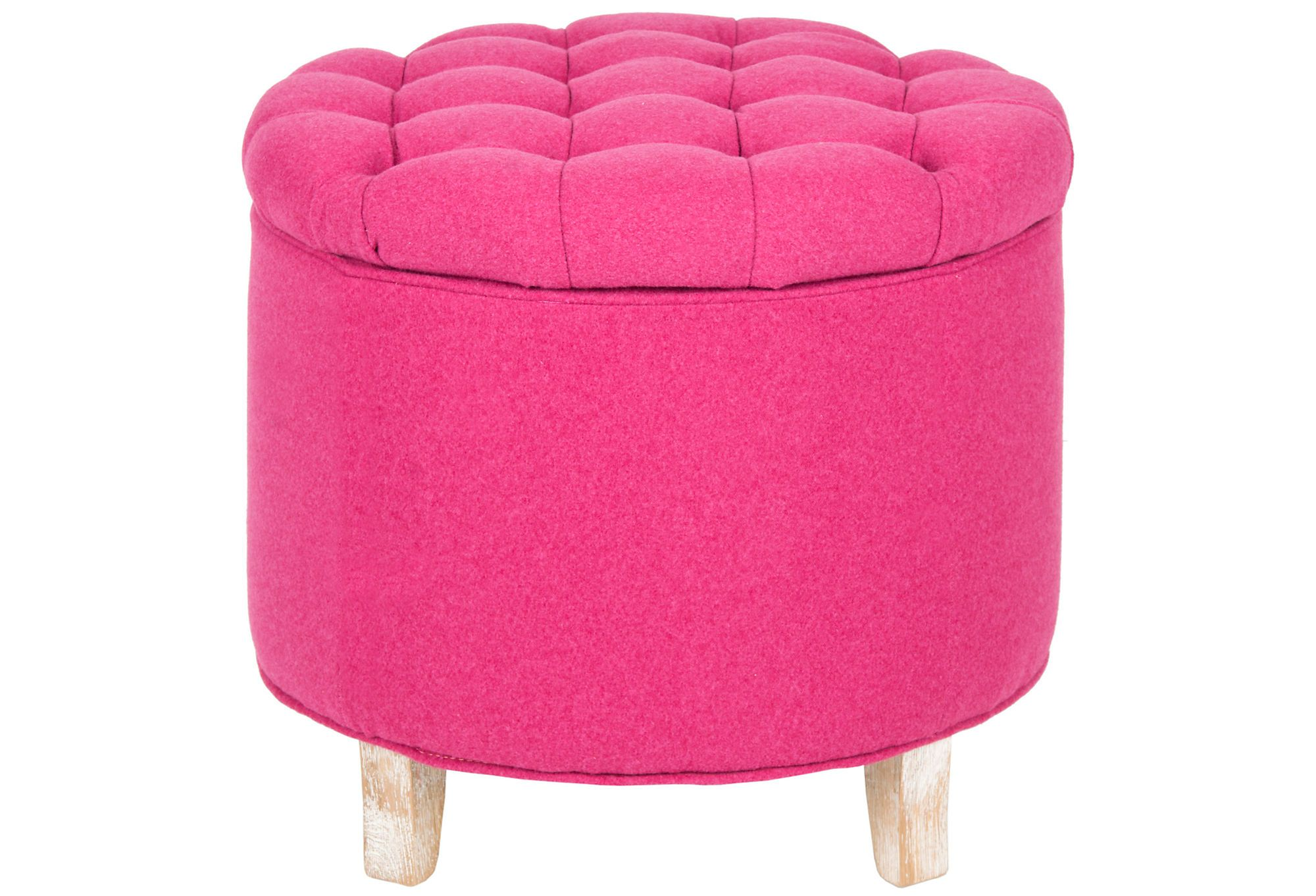 Arabella Tufted Storage Ottoman Pink Colors That Complement One Kings Lane