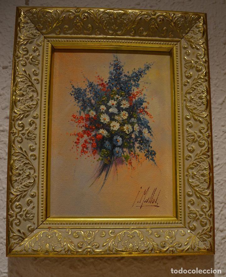 Pintura al oleo enmarcada firmada I.Mallol