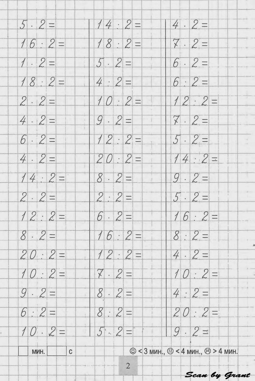 Закрепляем таблицу умножения и деления | Умножение, 2 ...