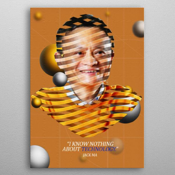 Jack Ma Abstract Poster Print | metal posters - Displate | Displate thumbnail