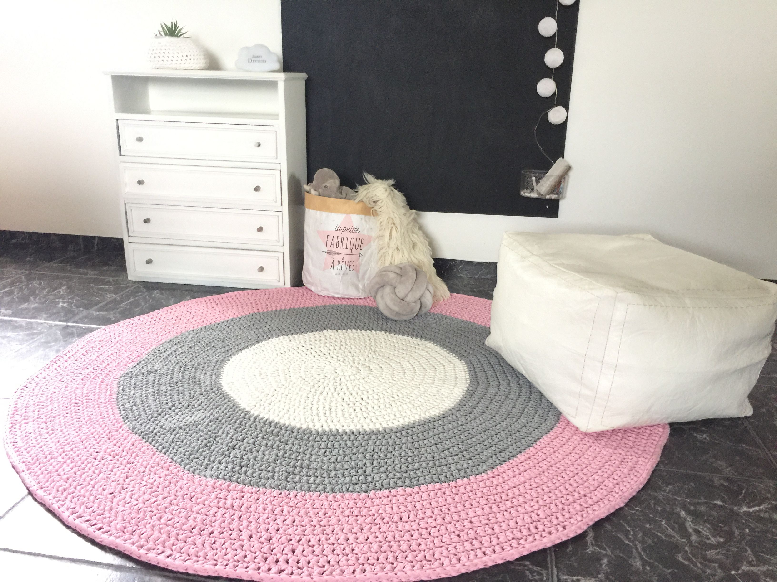 Large Crochet Rug Round Baby Play Mat Tummy Time Mat Etsy In 2020 Kids Rugs Rugs Round Rugs
