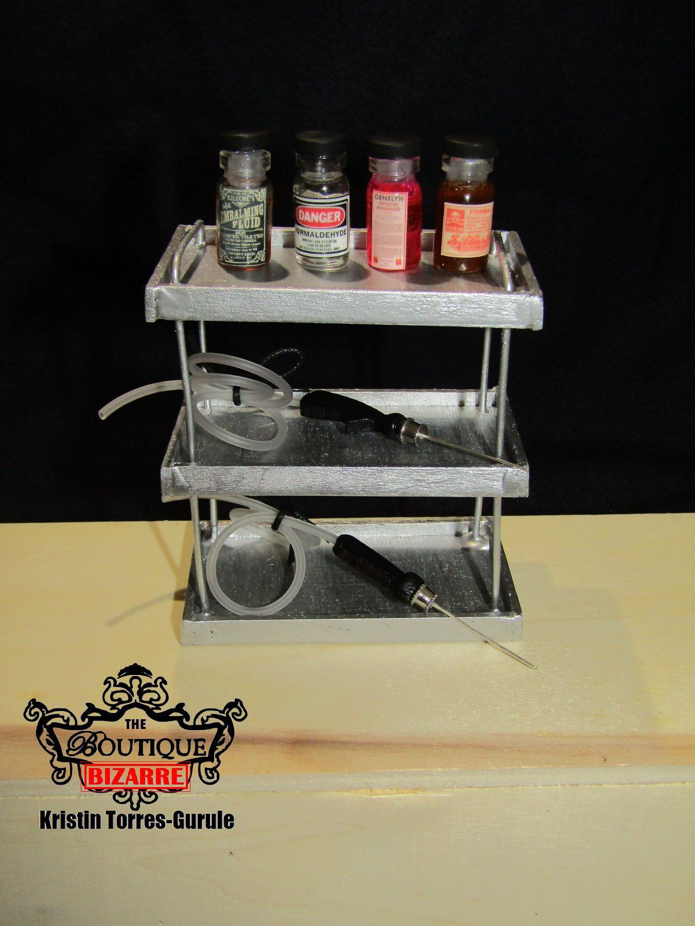 112 Scale Mortuary Funeral Home Miniatures Embalming Work Station