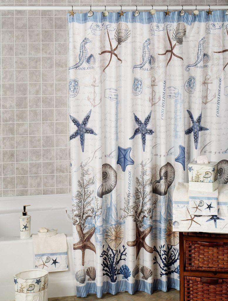 Shower Curtain Beach Theme | Shower Curtain | Pinterest | Beach ...