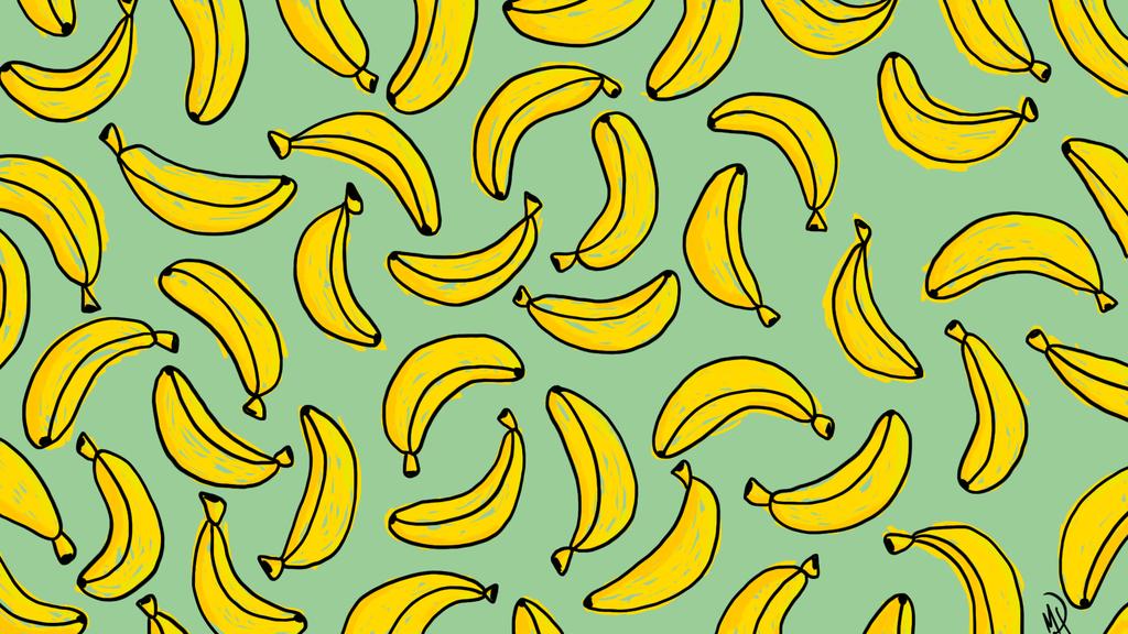 Banana Desktop Wallpaper By Megsneggs On Deviantart Desktop Wallpaper Art Aesthetic Desktop Wallpaper Desktop Wallpaper