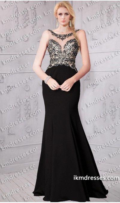 http://www.ikmdresses.com/fabulous-embellished-sheer-bodice-scoop-neckline-satin-dress-p61063