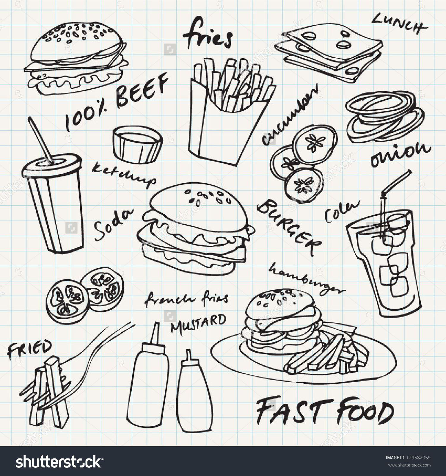 Image result for hamburger doodle Fast food, Doodles