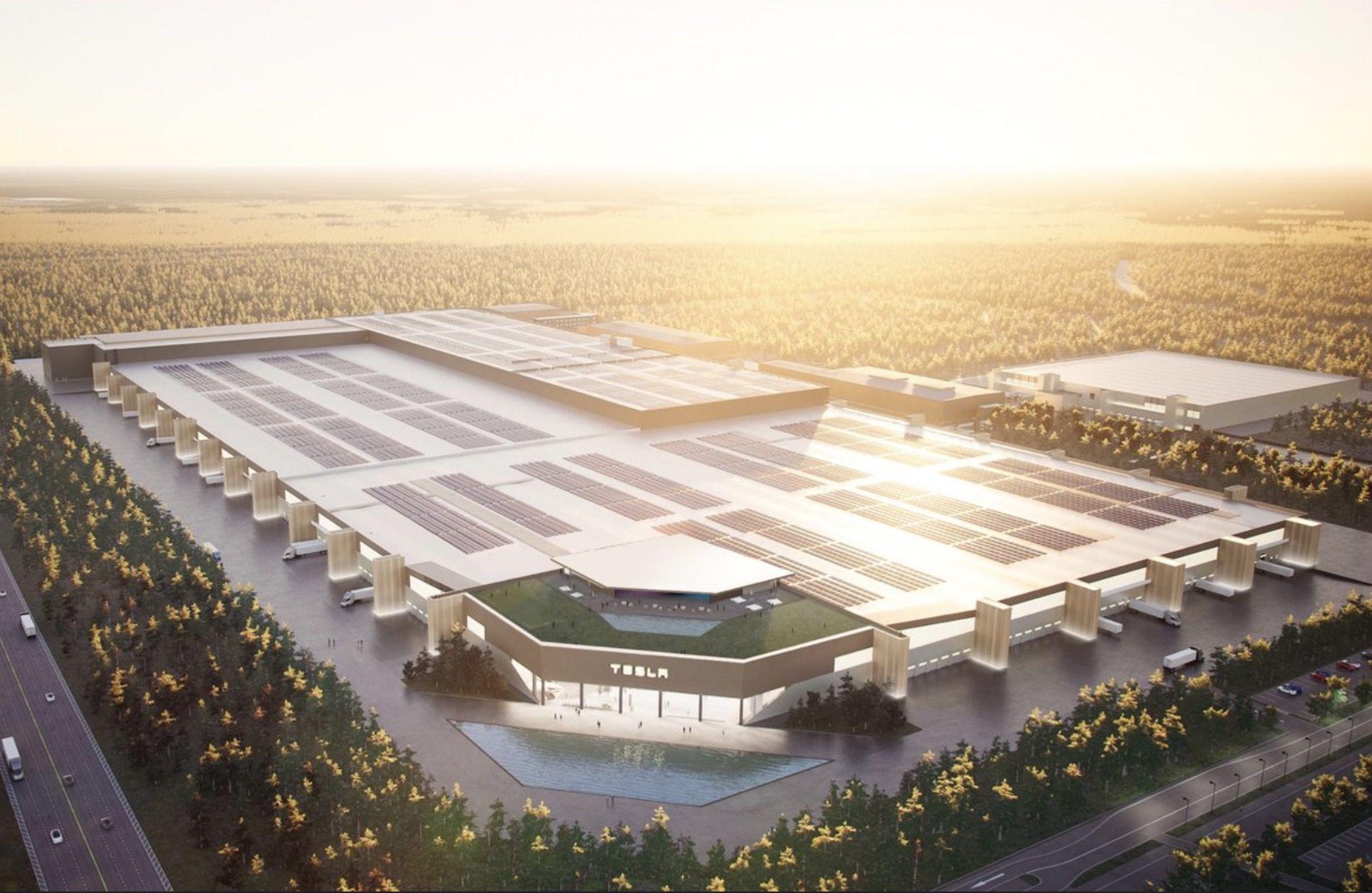 Elon Musk Releases Stunning Render Of Tesla Gigafactory Berlin When Completed Tesla Factory Tesla Elon Musk