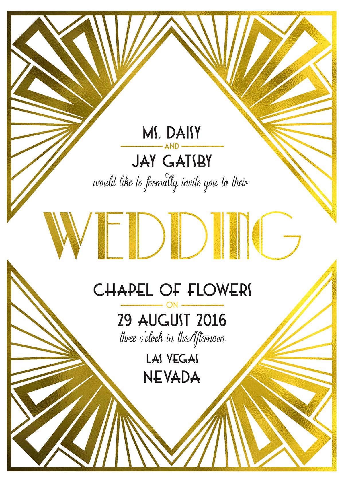 Art Deco Free Printable Wedding Invites | Art deco invitations, Deco  invitations, Art deco wedding invitations