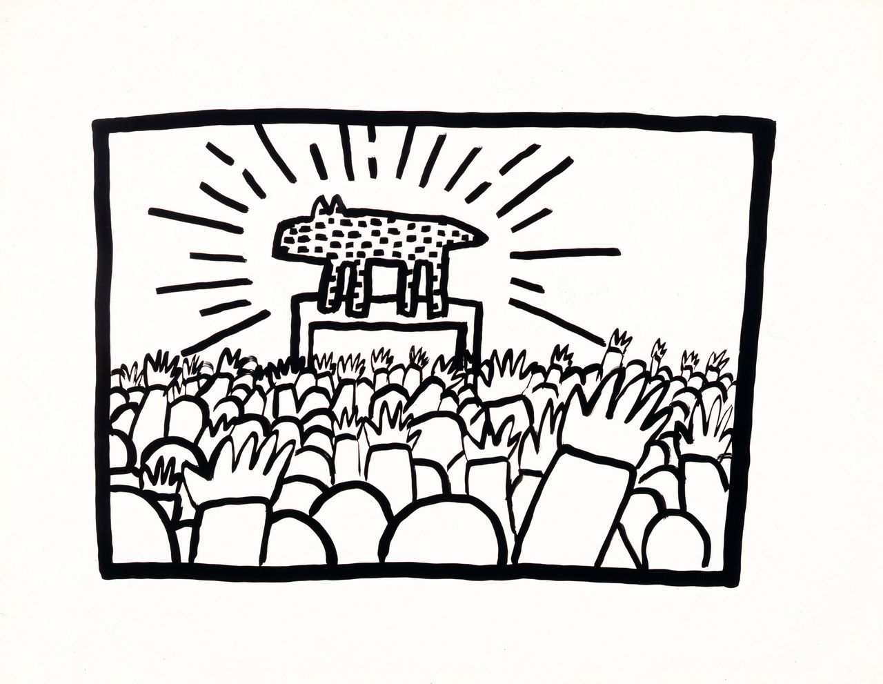 Keith Haring, Untitled. 1980. (Sumi ink on Bristol board. Collection Keith Haring Foundation)