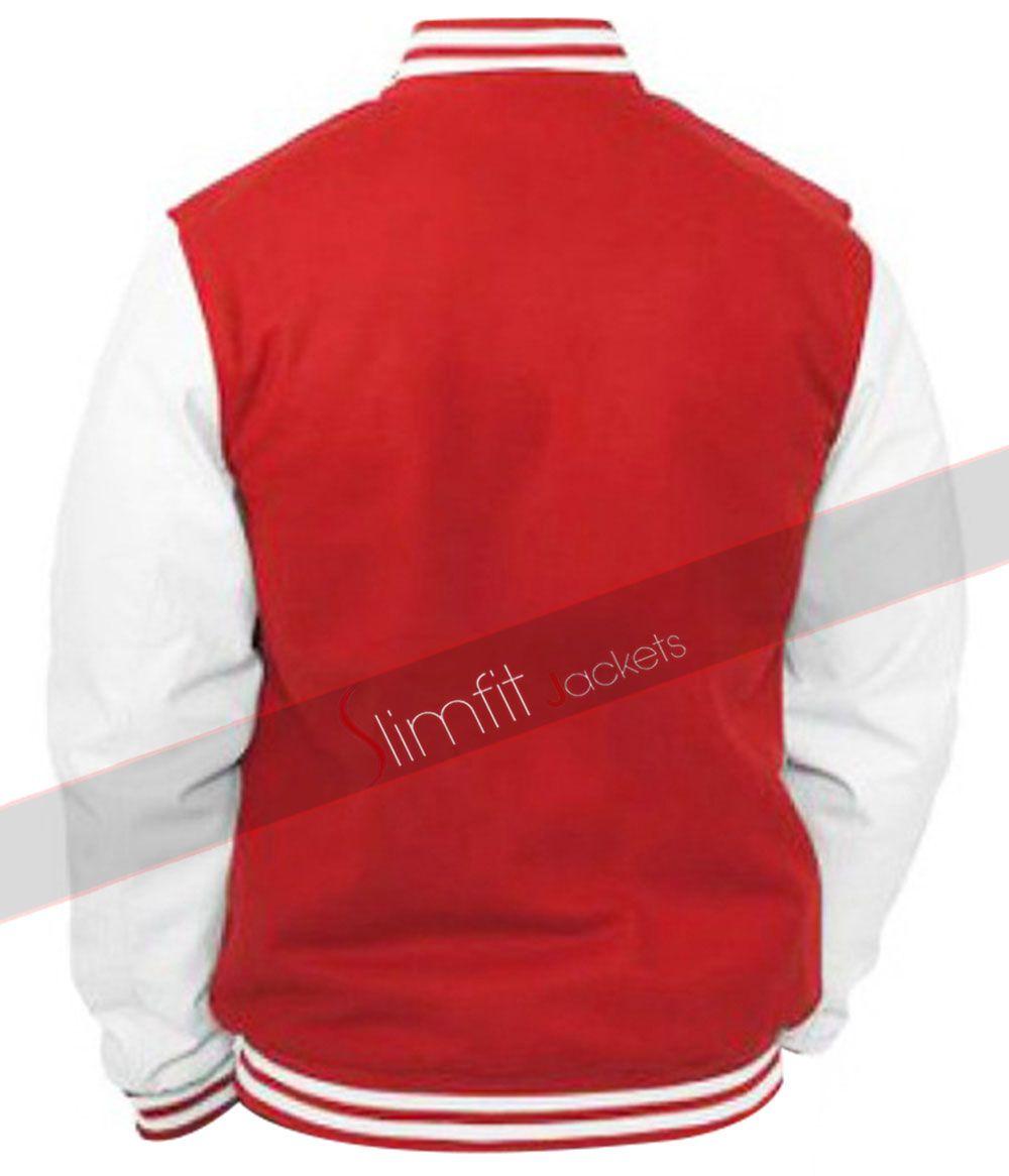 BASEBALL VARSITY MENS RED JACKET