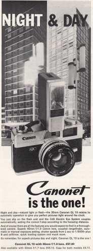 Canonet QL 19 advert circa May '72 #70sadverts