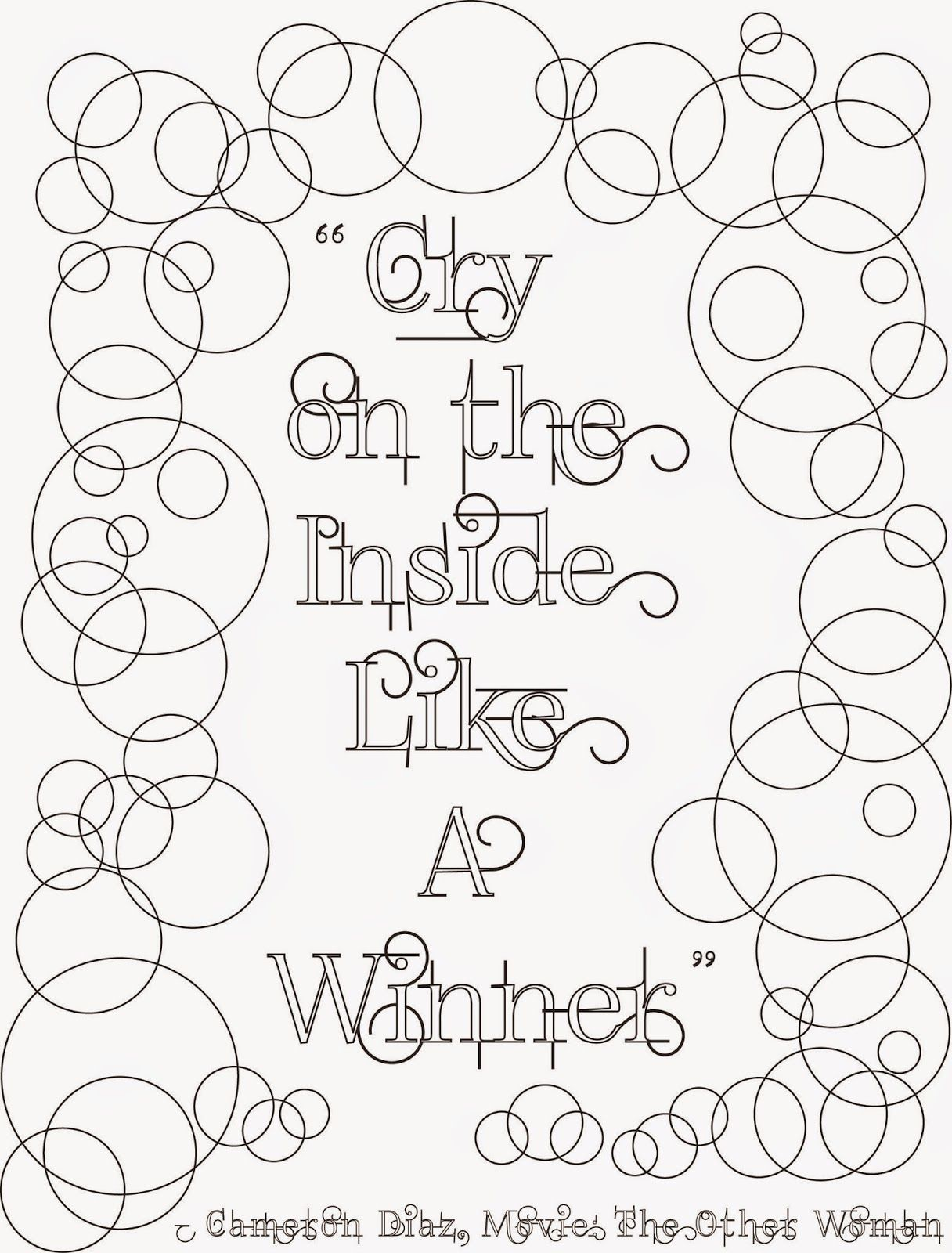 Gr grown up colouring in pages - Coloring Pages For Adults Quotes Cry On The Inside Adult Coloring Page Stefanie Girard Quote