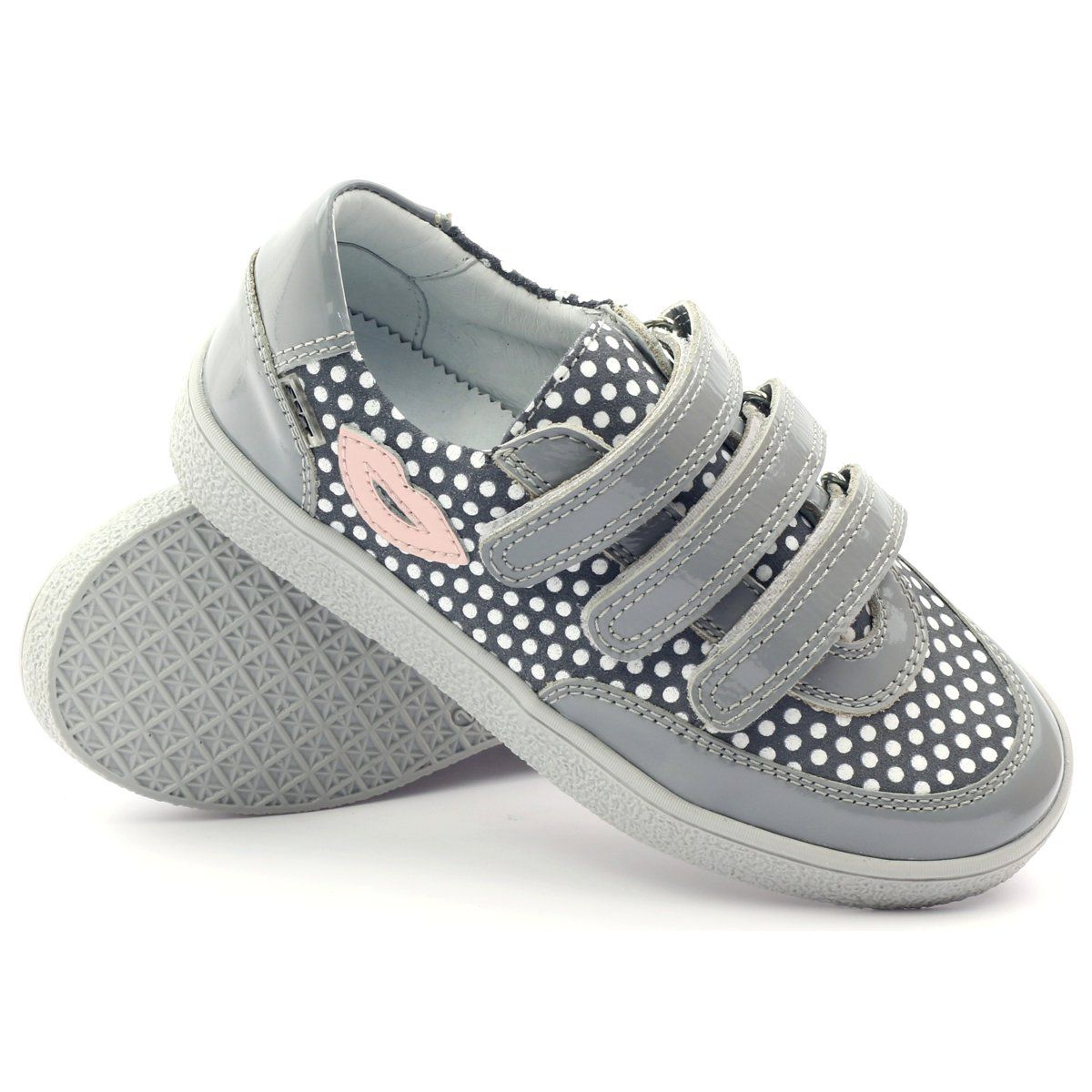 Bartek Buty Na Rzepy Szare W Kropki 35651 Rozowe Biale Kid Shoes Childrens Shoes Boots