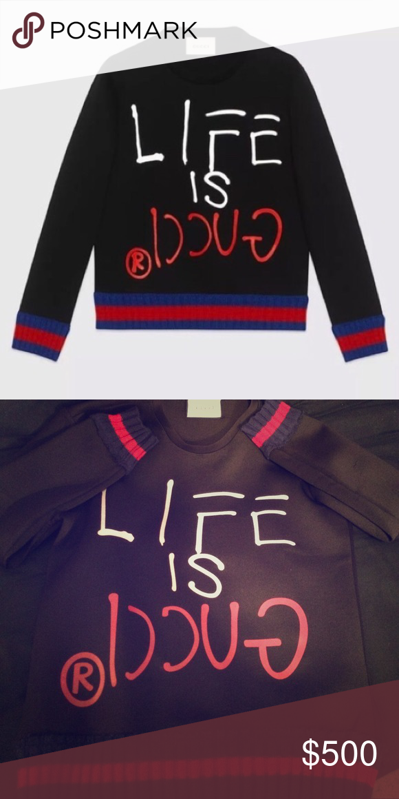 1c369186d Life is Gucci Sweater Exclusive Gucci Shirts Sweatshirts & Hoodies ...