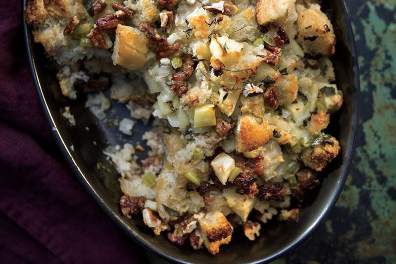 Stuffing With Sausage Pecans And Apples Recipe Food Network Recipes Farmhouse Rules Recipes Recipes