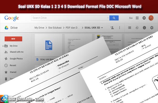 Pin Di Soal Ukk Sd Kelas 1 2 3 4 5 Download Format File Doc Microsoft Word