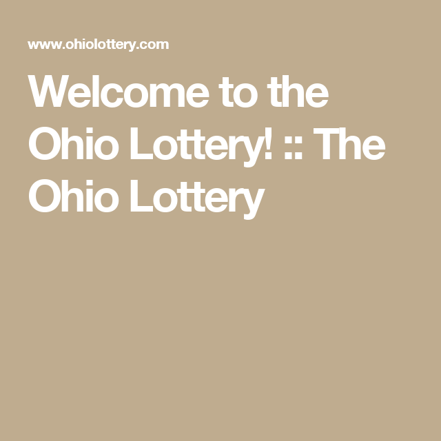 Welcome to the Ohio Lottery! :: The Ohio Lottery | OHIO LOTTERY