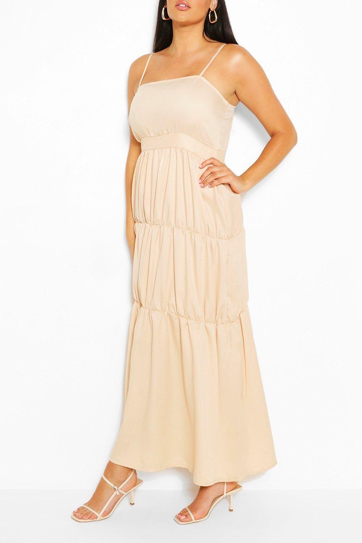 Plus Tiered Strappy Maxi Dress Boohoo Maxi Dress Bodycon Fashion Strappy Maxi Dress [ 1500 x 1000 Pixel ]