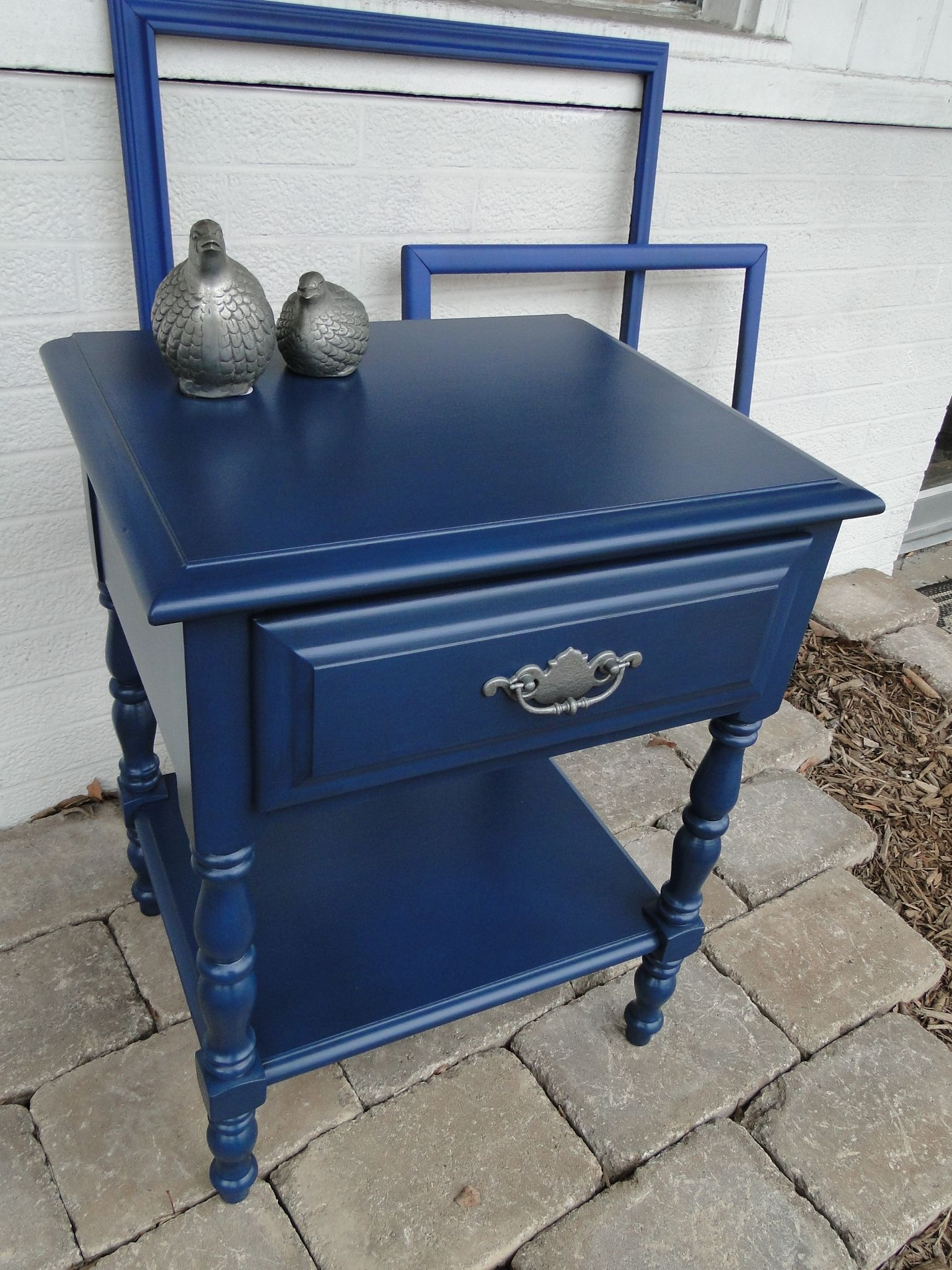 I Love How This Dark Navy Blue Pairs With The Silver Hardware This Is A Very Sturdy Little