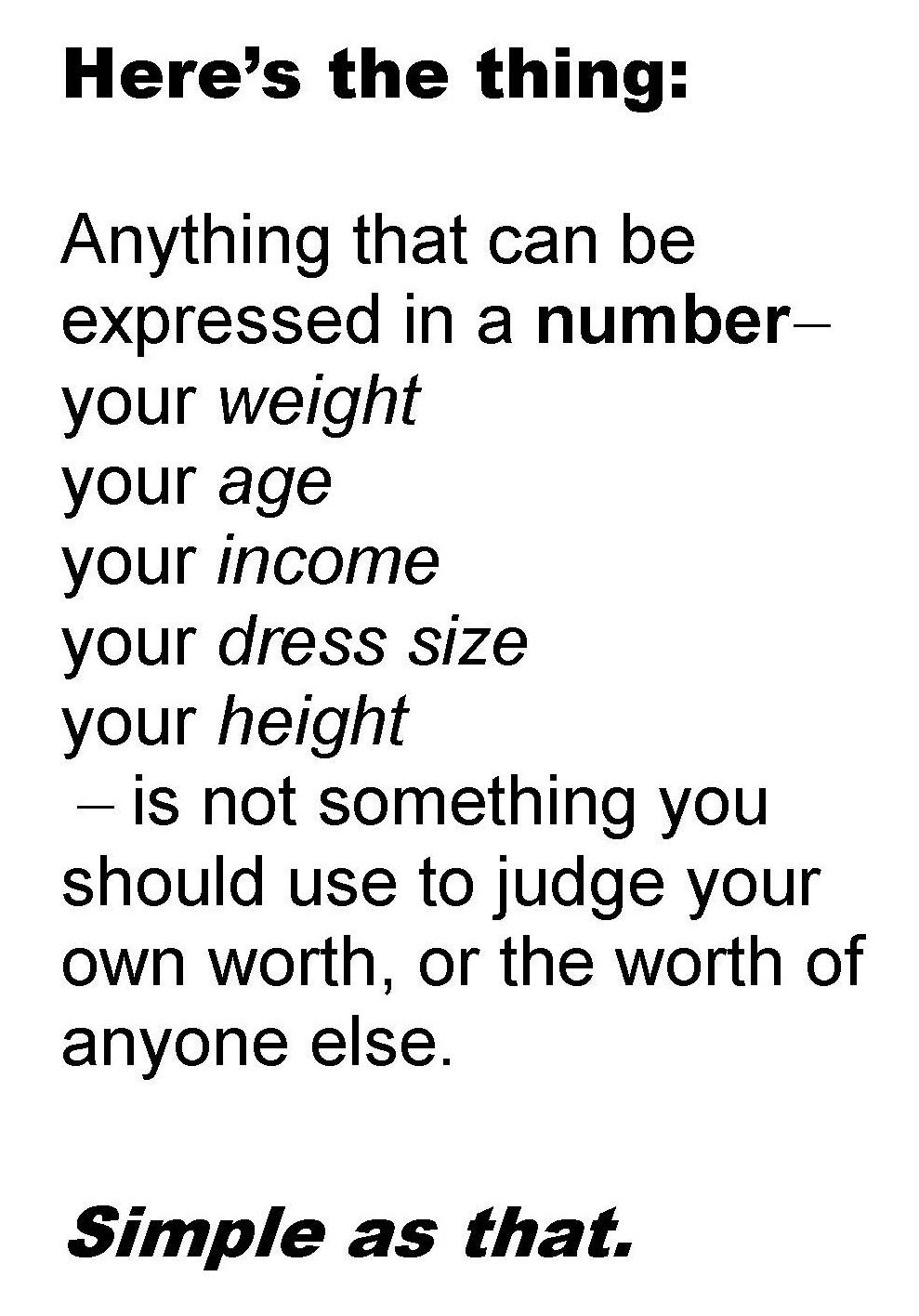 Your Worth Is Not Defined By Numbers  SelfEsteem