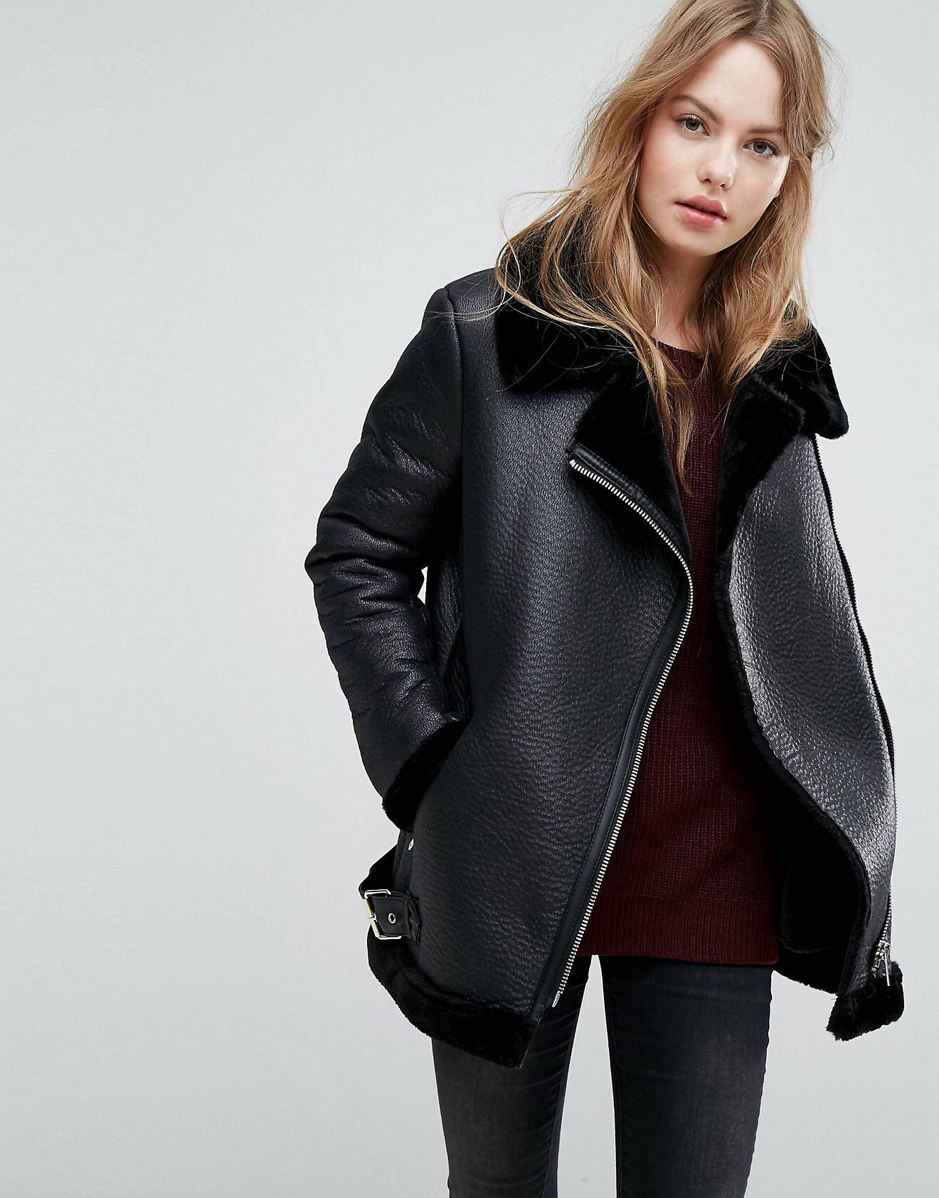 LOVE this from ASOS! Faux shearling jacket, Shearling