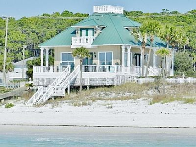 Vrbo Com 440546 Luxury 3br Beachfront Home Wrap Around Porch Views From All Rooms Beach Houses For Rent Beach Cottage Exterior Dream Beach Houses