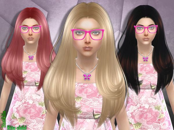 The Sims Resource Sintiklia S Hair Rita Child Sims 4