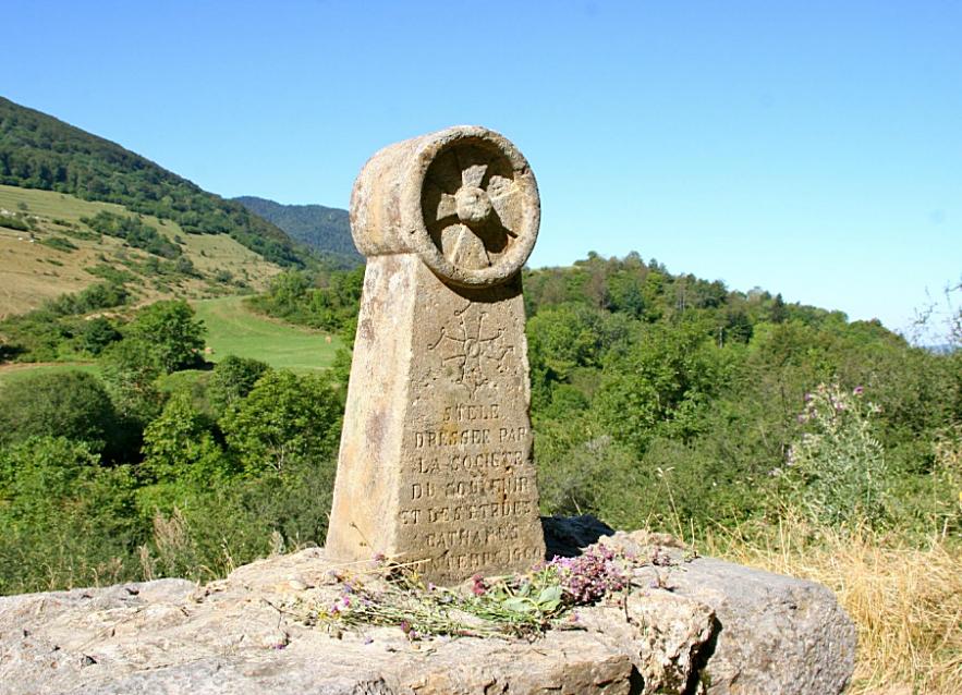 Stele bei Montsegur