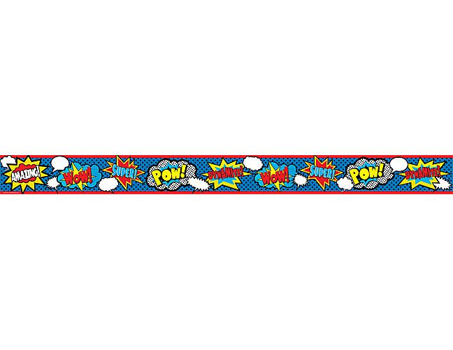 Straight Line Intro The Art Of Closing : Superhero straight border trim decor display and