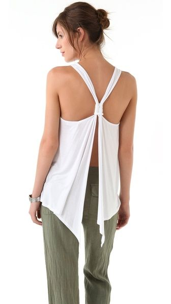 SOLOW Tank with Knotted Back Detail