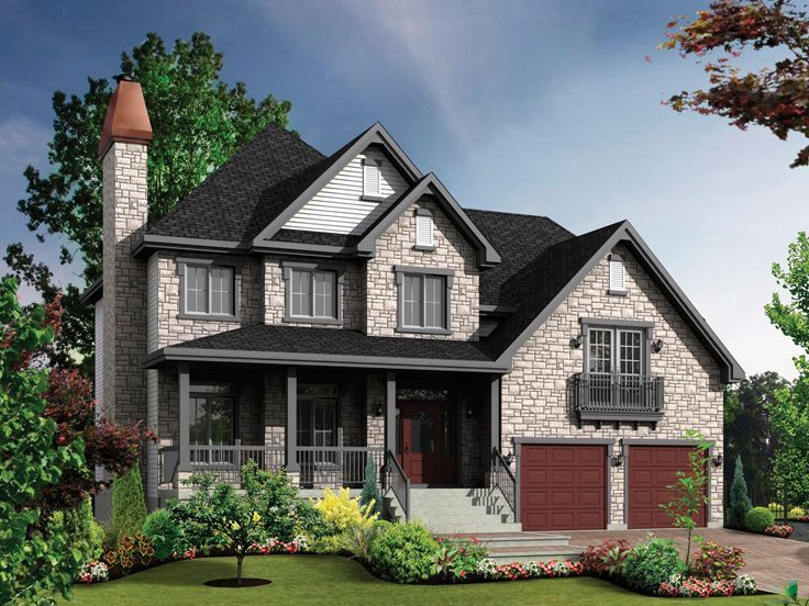 Good Two Story European House Plans Part - 3: 072H-0155: Two-Story European House Plan; 2362 Sf