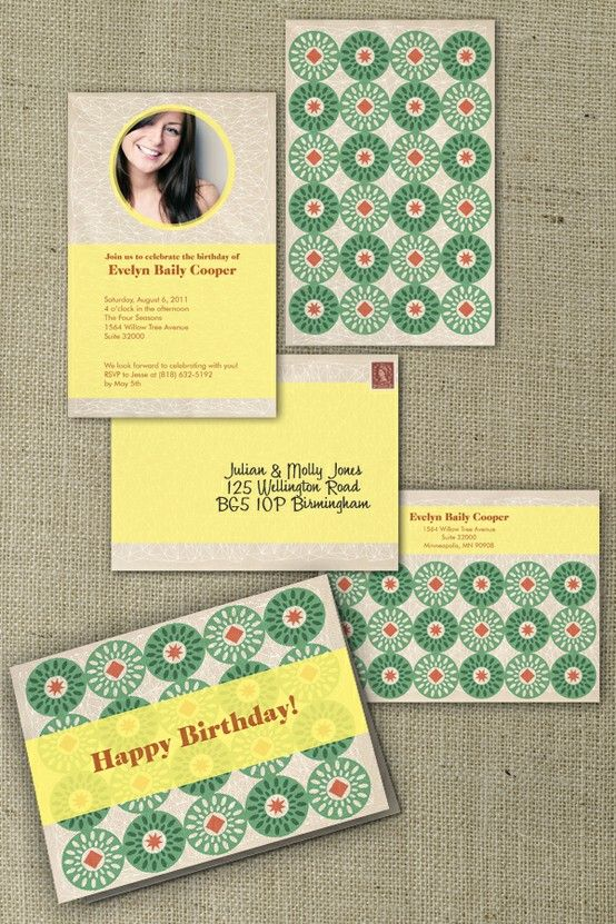 Horizontal and vertical invitation formats You choose Ethnic - invitation formats