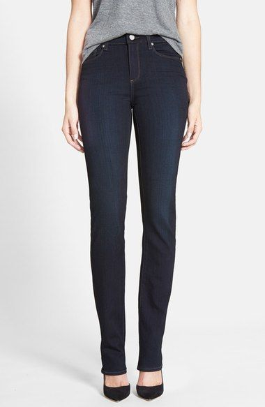 Paige Denim 'Transcend - Hoxton' High Rise Straight Jeans (Mona) available at #Nordstrom