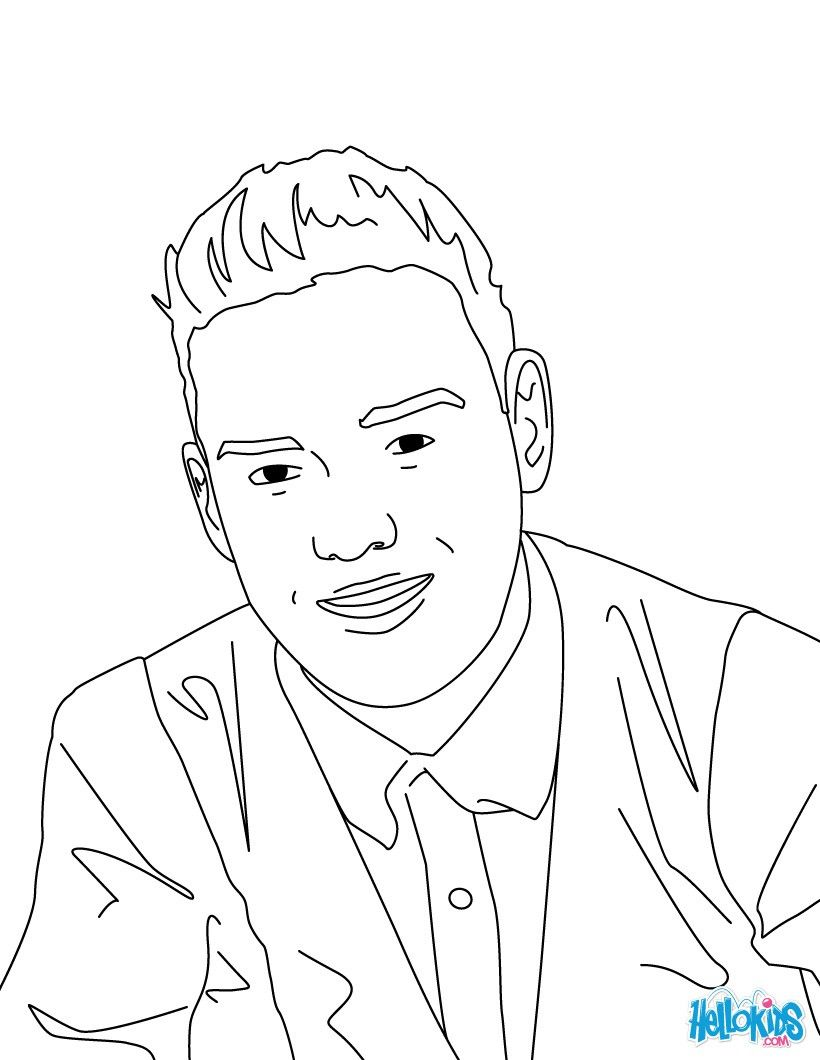 Liam Payne coloring page. More One Direction coloring ...