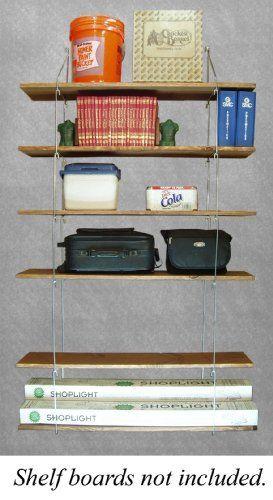 Quick Shelf Hangers Six Shelf 12 Deep Wall Mount Shelving Unit By Quick Shelf 39 95 Shelf Hanger Shelves Wall Mounted Shelving Unit