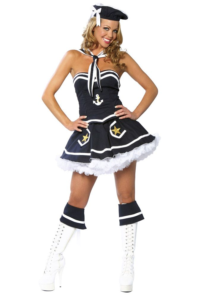 Flirty Sailor Costume Sexy Navy Blue Sailor Halloween Costume