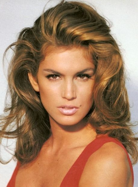 Cindy Crawford?s approach to hair? The bigger, the better.