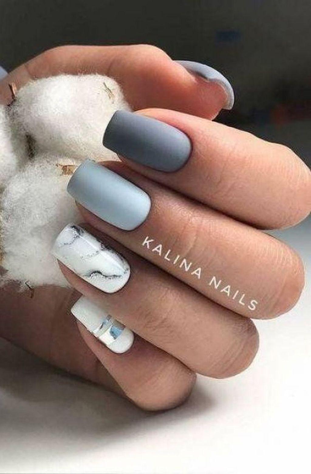 33 Simple Diy Matte Nail Design Ideas For Matte Nails 33 Simple Diy Matte Nail Design Ideas Fo Manicura De Unas Manicura Para Unas Cortas Disenos De Unas Mate