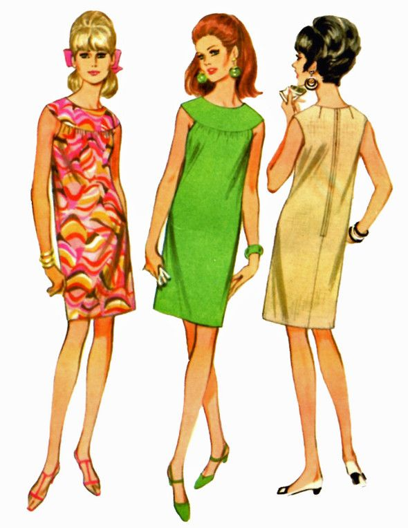 1960s Shift Dresses : 1960s, shift, dresses, Ladies;, FashionistaI'll, Shift-, Vintage, Dress, Sewing, Patterns,, Mccalls, Patterns