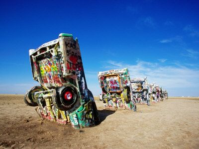 """Cadillac Ranch  Amarillo  USA""  by Oliver Strewe"