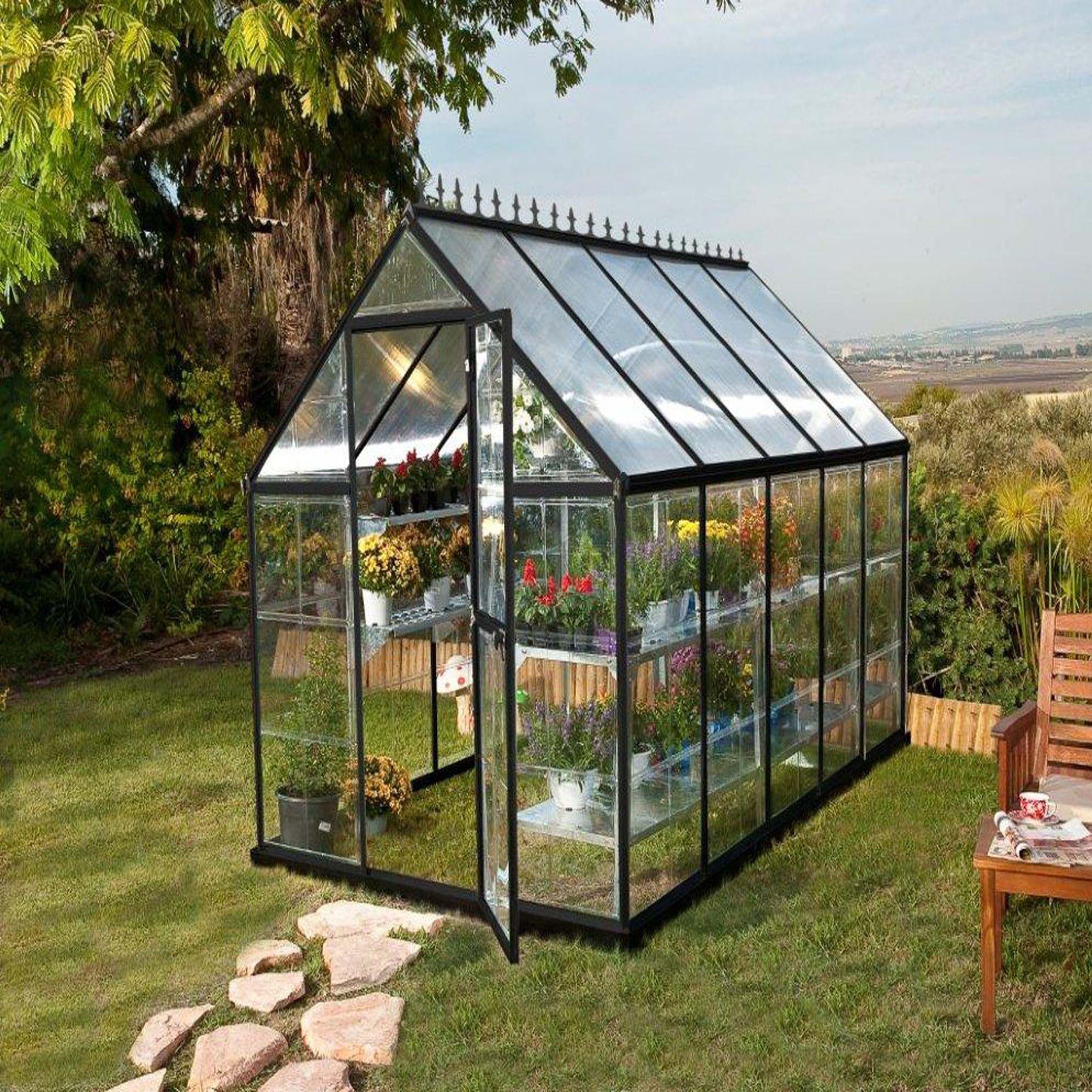 Serre En Polycarbonate Victorienne 5 73 M Transparent Gris Serre Les Abris Serres Et Chalet De Jardin Serre Jardin Serre De Jardin Polycarbonate