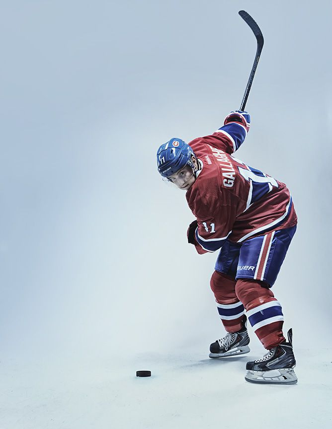 Brendan Gallagher of the Montreal Canadiens by KC Armstrong