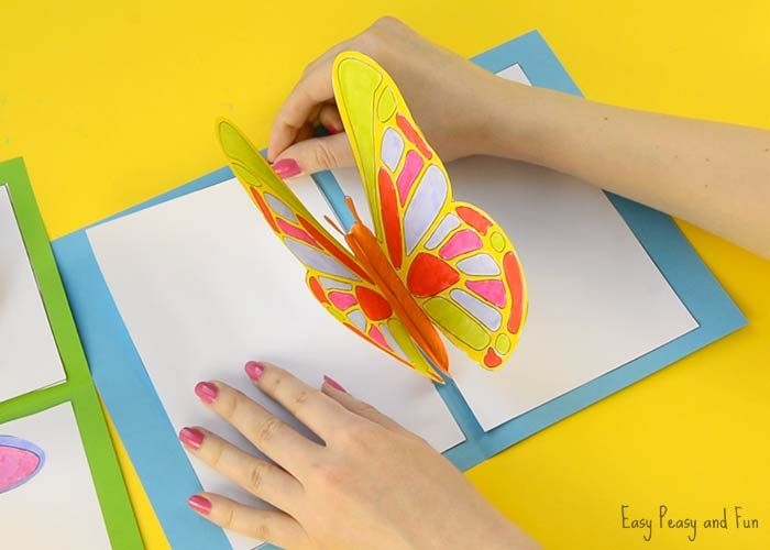 Diy Butterfly Pop Up Card With A Template Butterfly Cards Handmade Pop Up Card Templates Diy Butterfly