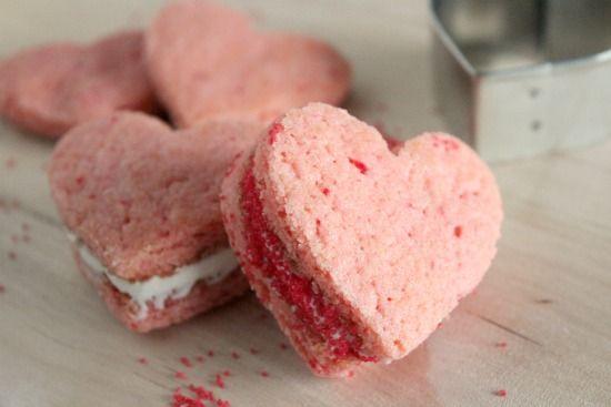 heart cookie sandwiches