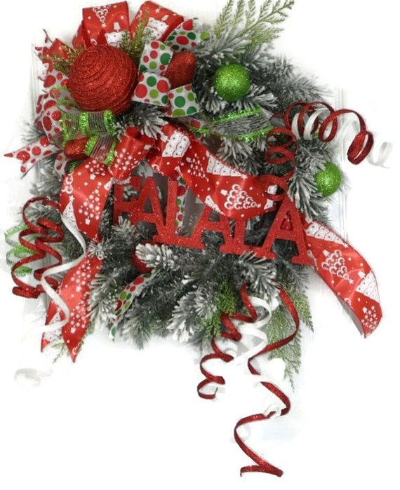 This Bright Red Sparkling Christmas Wreath will have you singing - christmas wreath decorations