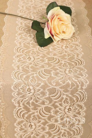 Amazon lings moment 12x72 burlap nude lace table runner amazon lings moment 12x72 burlap nude lace table runner country junglespirit Gallery