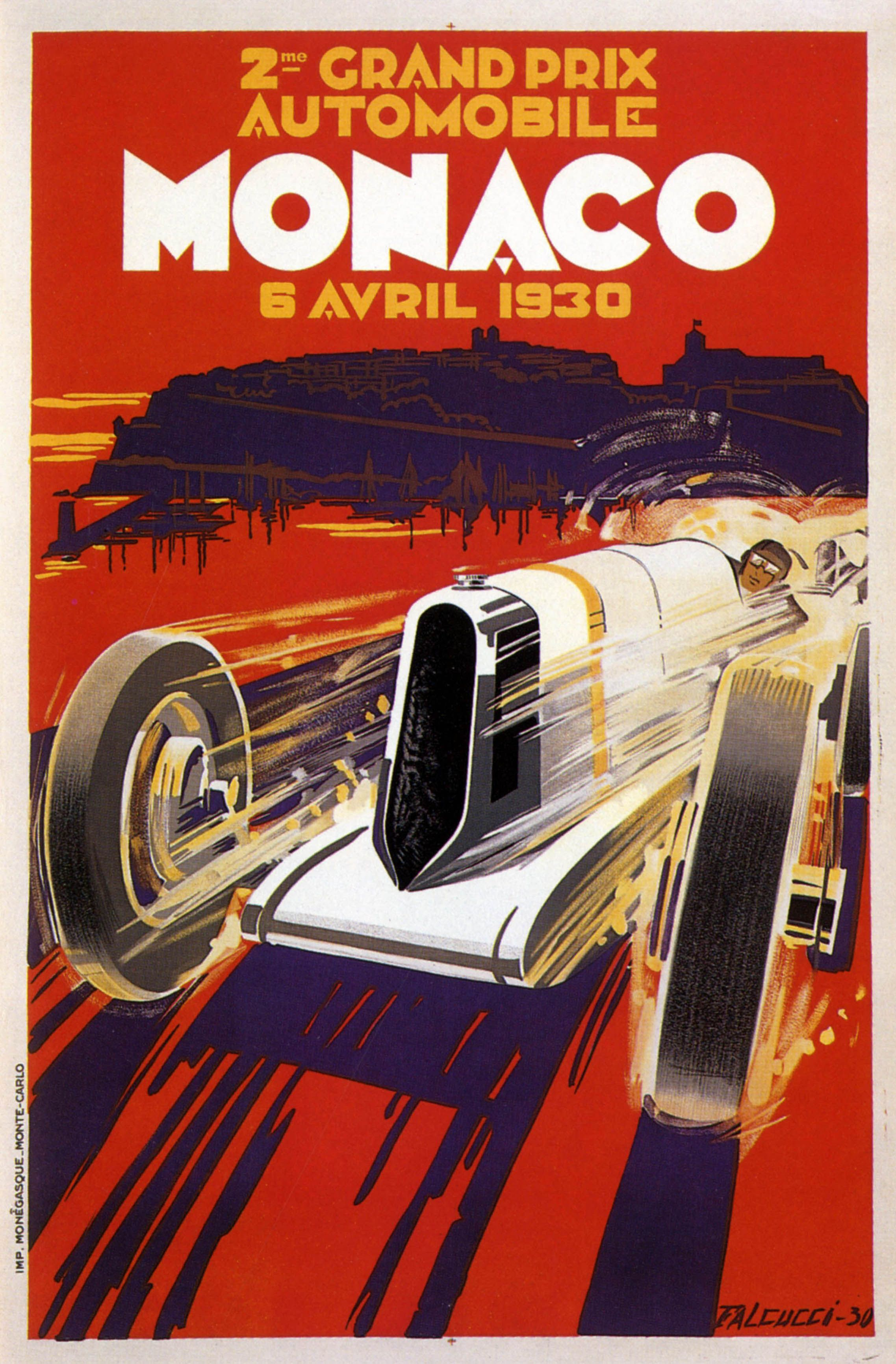 Piece Automobile Prix Deuxieme Grand Prix Automobile De Monaco Poster By Robert