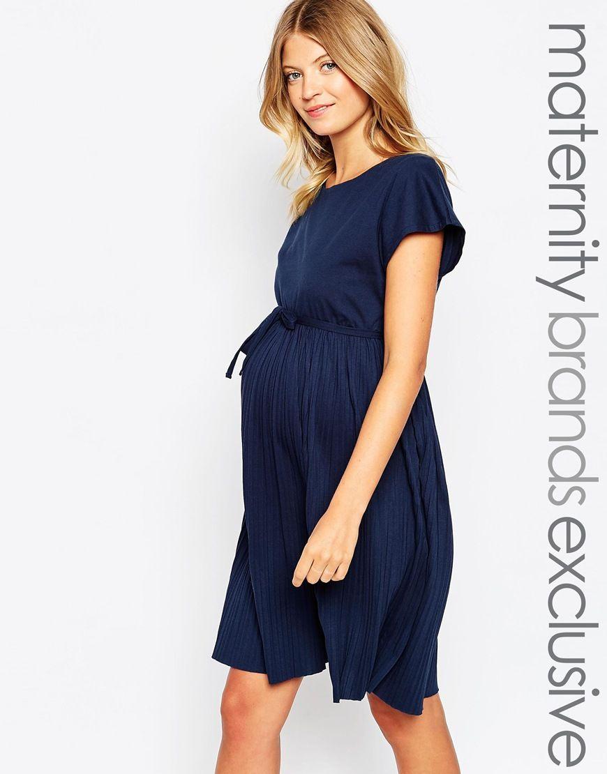 c243fb79eb920 Image 1 of Mamalicious Jersey Pleated Dress | Maternity | Dresses ...