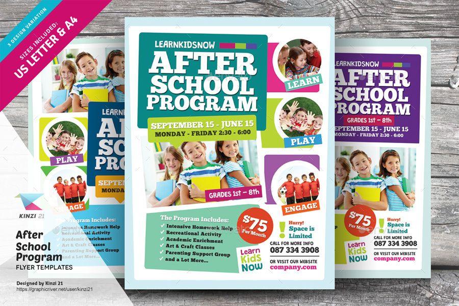 After School Program Flyer Templates Flyer School Programs